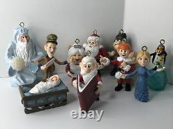10 Holiday Ornaments Figures Santa Claus Is Coming To Town 2004 Memory Lane