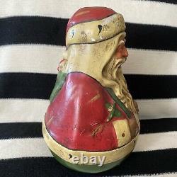 11 Vintage Christmas Santa Claus Roly Poly Toy Figure Midwest Cannon /Schoenhut