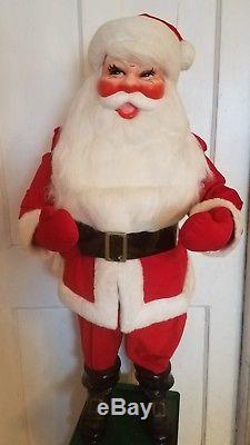 1950's 3 Foot Santa Claus Store Window Display Christmas Christmas Red Velvet