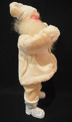 1950's Harold Gale 15 Santa Claus Christmas Figure White Velvet Suit