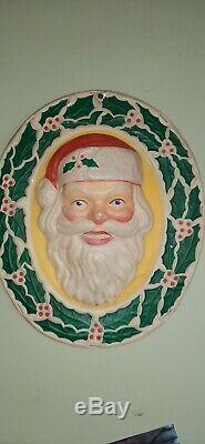 1950s vintage glolite lighted plastic christmas santa claus