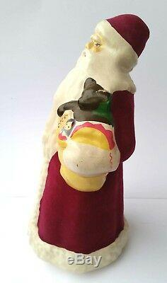 1960s USSR Russian LARGE Size DED MOROZ Santa Claus PRESSED SAWDUST RARE Type