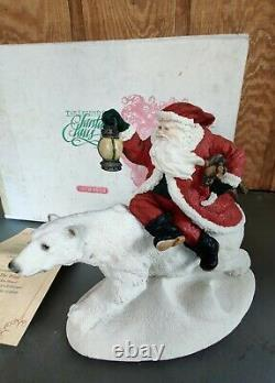 1995 United Design Legend of Santa Claus Into The Wind CF-061 &COA In Box RARE