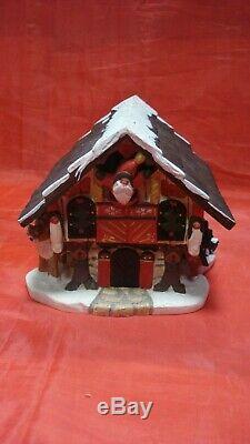 1996 House of Hatten Denise Calla Santa Claus Workshop / Chalet Rare Find