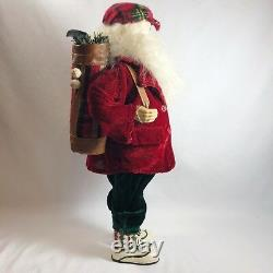 1996 JcPenny Christmas 18 Inch Santa Claus Golf Doll Figure Decoration