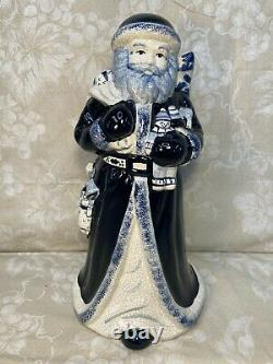 2 Delft Style Santa Figures Marked Limited Edition Spxo USA & R M Stank