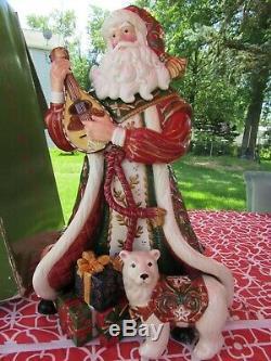2004 Fitz And Floyd Christmas Tidings Centerpiece Santa Claus Figure Retired