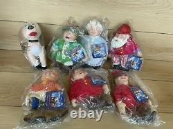 2006 NECA The Year Without A Santa Claus Bean Plush Figures Lot NIP NWT 7 Total
