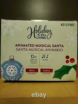 28 African American Animated Musical Santa Claus New in box