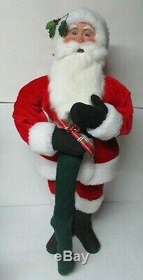 29 Tall Byers Choice Christmas Store Display Figure Santa Claus w Stocking