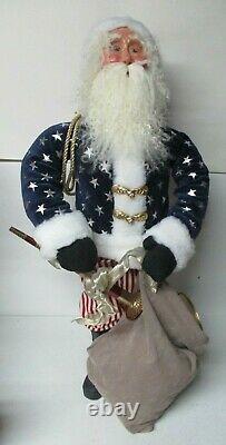 30 Tall Byers Choice Christmas Store Display Figure Patriotic Santa Claus