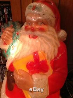 30 inch tall Noma lighted hard plastic wall decor Santa Claus read description
