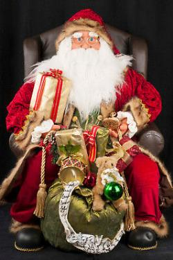 31 Santa Claus Sitting in Arm Chair Throne Christmas Figure Decoration Display