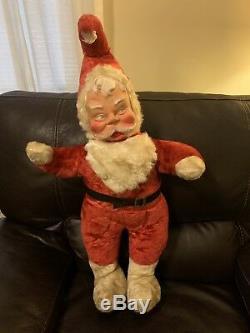 32 Mid Century Creepy Santa Claus Doll, 1950's