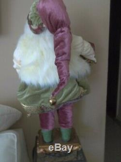 32 big SANTA CLAUS noble CHRISTMAS figure doll with TEDDY BEAR boyds large