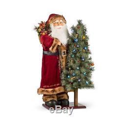 36 Animated Lighted Santa Claus Musical Figure Christmas Decoration