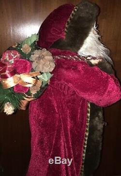 37 Santa Claus Home Decor Standing Christmas Figure- Woodland/Rustic