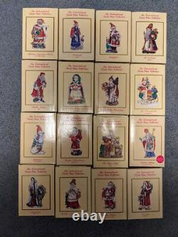 48 International Santa Claus Collection Figurines Complete with Boxes