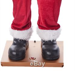 5.8 ft. Christmas Singing Santa Claus Sound Activated Holiday Yard Decoration