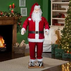 5.8 ft Dancing Singing Santa Clause Life Size Realistic Features Christmas Decor