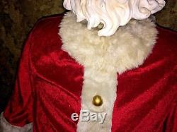 5' Gemmy SANTA CLAUS ANIMATED FIGURE Life Size SINGING DANCING Christmas Songs