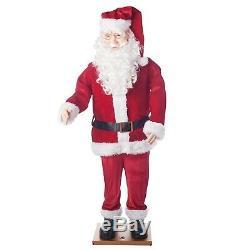 6' Christmas Dancing Singing Santa Claus Sound Activated Holiday Yard Decoration