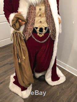 80-Inch Life Size Santa Claus Christmas Figure by Jacqueline Kent / Kurt Adler