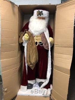 80 Inch Life Size Santa Claus Christmas Figure By