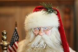 A Vintage Christmas Santa Claus, Brian Kidwell, NEW, 30 x 17 x 12