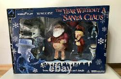 A Year Without a Santa Claus Action Figures Heat Miser Snow Miser Santa Suncoast