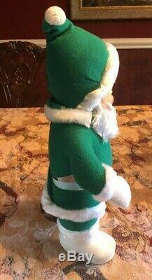 ANTIQUE RUSHTON Santa Claus-Rare GREEN SUIT 18 Tall