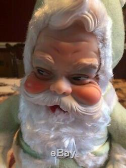 ANTIQUE RUSHTON Santa Claus-Rare MINT GREEN SUIT 18 Tall
