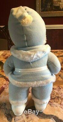 ANTIQUE RUSHTON Santa Claus-Rare Powder Blue SUIT 18 Tall