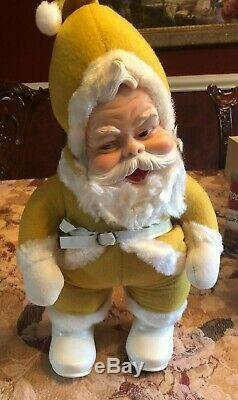 ANTIQUE RUSHTON Santa Claus-Rare YELLOW SUIT 18 Tall