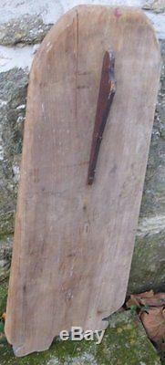 ANTIQUE SANTA CLAUS WOOD Primitive Hide Stretcher Painted PA Dutch Folk Art