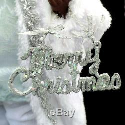 African American Black Santa Claus Figurine / Faux-fur Coat / Extra-large Size