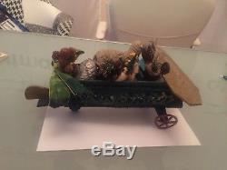 Amazing Antique German Santa Claus In Aeroplane 1900 Rare Piece