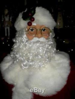 Animated 5 Foot 3 Life Size Santa Claus Dances & Sings Christmas Prop Rare F-2