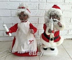 Animated African American Black Mr. & Mrs. Santa Claus Christmas Santa's Best 21