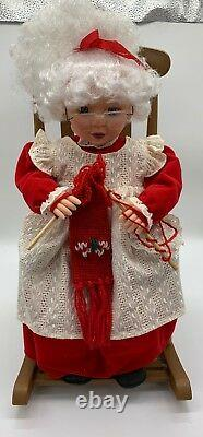 Animated Collection Mrs Claus Rocking Chair Large Christmas Animated Peice