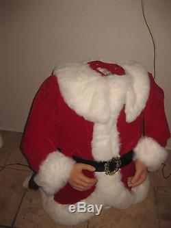 Animated Life Size 5 Ft Santa Claus Sings & Dances To Christmas Song See Video