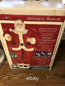 Animated Motion Singing Dancing Santa Life Size 60 Christmas Decor 2004 Tested