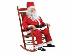Animated Rocking Santa Claus Christmas Prop Life Size Holiday Kris Kringle Sound