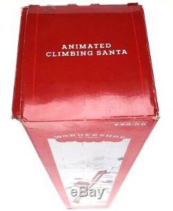 Animated Santa Claus Climbing Ladder Musical Christmas Tree Holiday Decoration