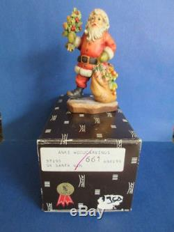 Anri Sarah Kay Santa Claus 4 Figure #653155 LE of 750 NIB SR