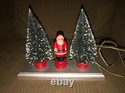 Antique Christmas Santa Claus Figure Edison Light Bulb With Socket base Works OC