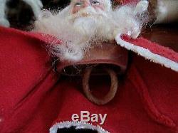 Antique German BELSNICKLE Santa Claus in Felt Jacket Beautiful Features