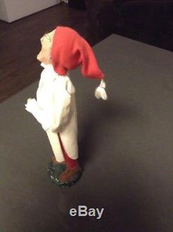 Antique German Belsnickle Santa Claus Paper Mache Christmas Caroler Figure