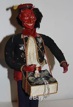 Antique German Companions of Santa Claus Krampus, Candy Container c. 1900