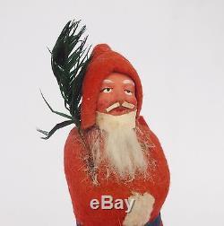 Antique German Paper Mache Candy Container Santa Claus Figure